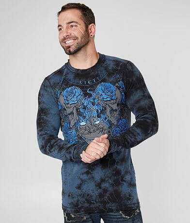 Affliction Lifesblood Reversible Thermal Shirt