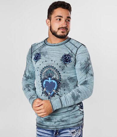 Affliction Pierced Heart Reversible Thermal