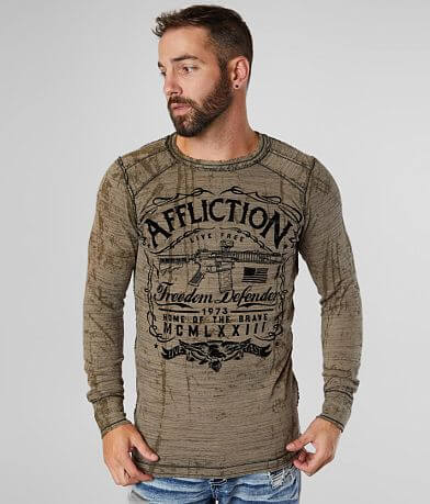 Affliction Brave American Reversible Thermal