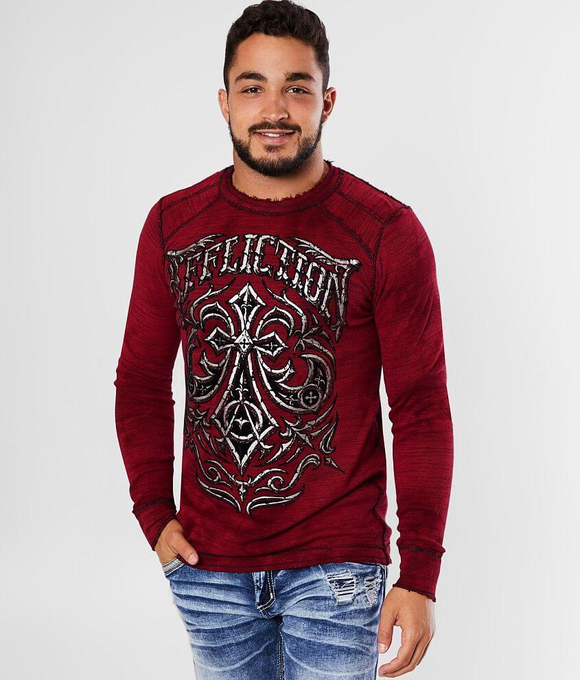 Affliction Midnight Dirge Reversible Thermal front view