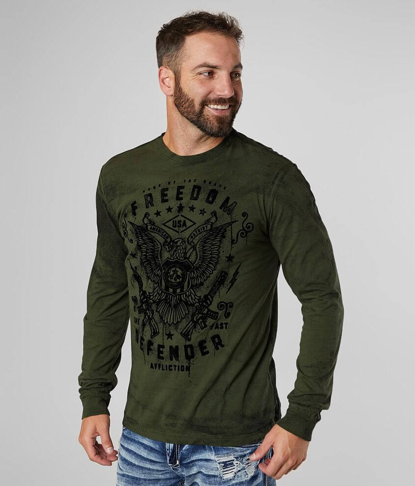 Affliction Freedom Defender Smash T-Shirt front view