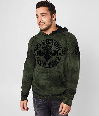 Affliction Divio Reversible Hooded Sweatshirt