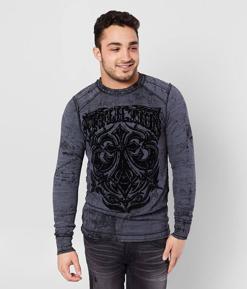 Affliction American Customs Midnight Dirge Thermal front view