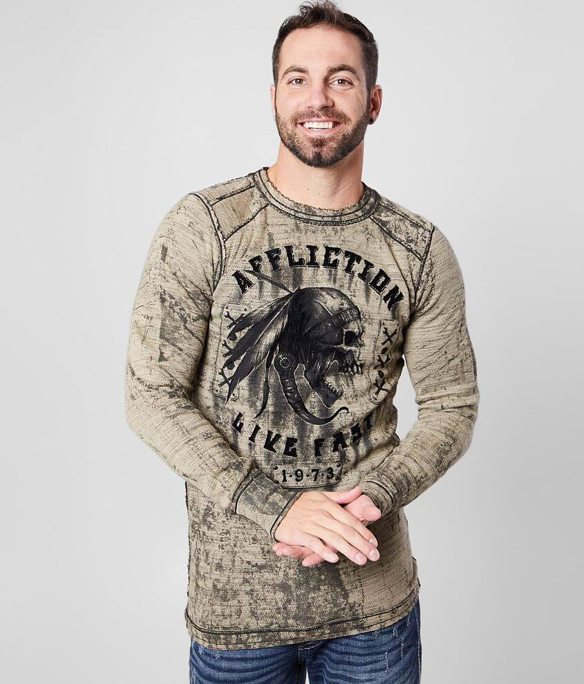 Affliction Apache Garage Reversible Thermal front view