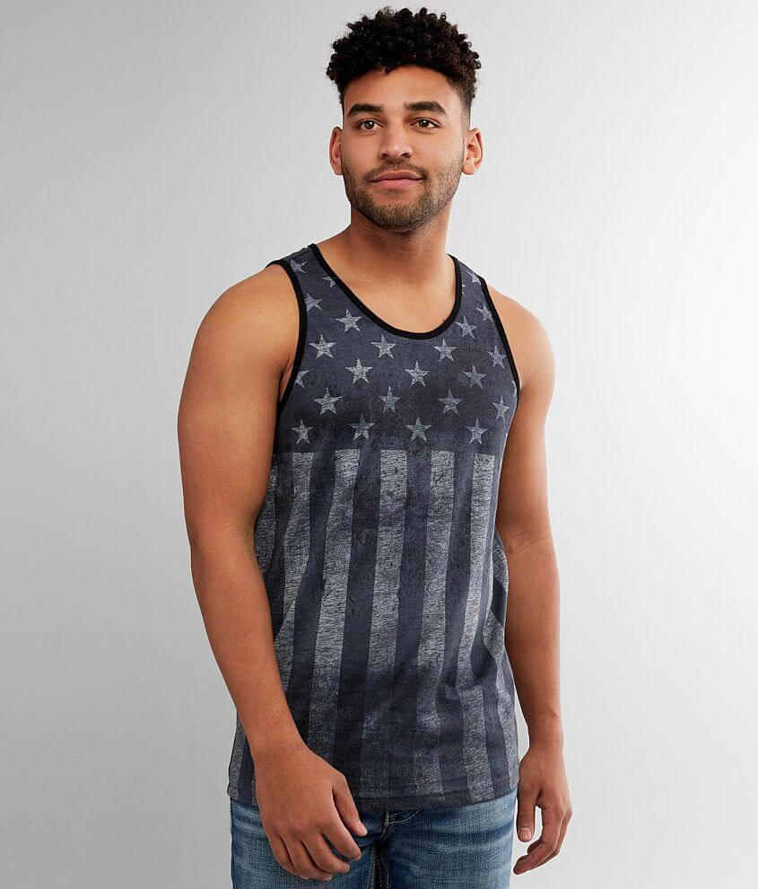 Affliction Brave Liberty Tank Top front view