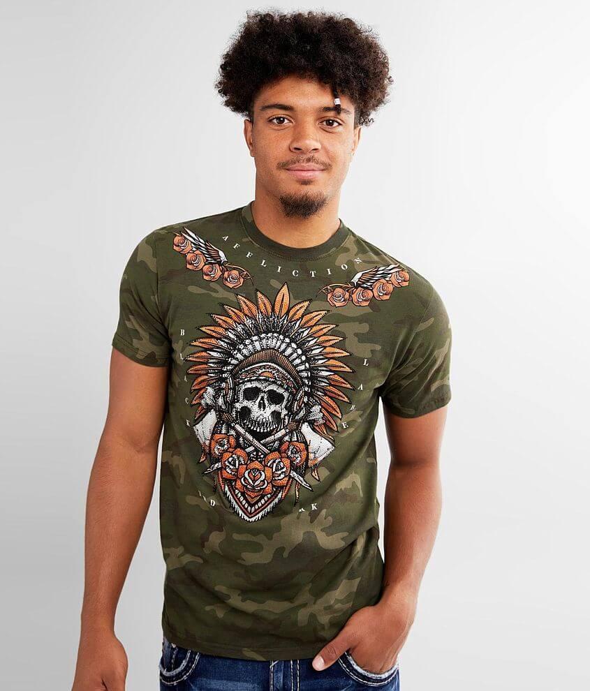 Affliction Jaguar God T-Shirt front view