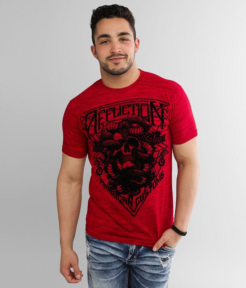 Affliction American Customs Venom Road T-Shirt front view