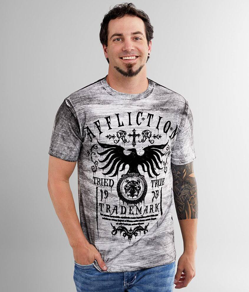 Affliction Tried Dusk T-Shirt front view