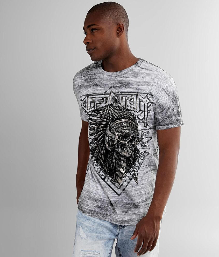 Affliction American Customs Stone & Steel T-Shirt front view