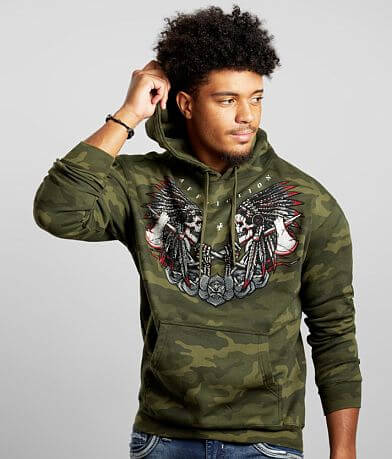 Affliction Jaguar God Hooded Sweatshirt