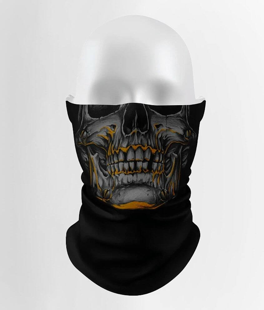 No exchanges or returns Skull printed gaiter This mask is not N95, surgical/medical grade or FDA approved Please note this mask helps reduce exposure to dust, allergens, germs and bodily fluids but is not a respirator and will not eliminate the risk of contracting disease or infection One size fits most Can be styled multiple ways