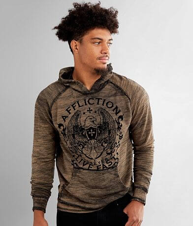 Affliction Virtue Reversible Hooded Sweatshirt
