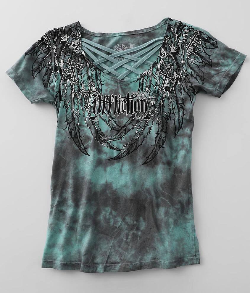 Affliction Whispering Thoughts T-Shirt front view