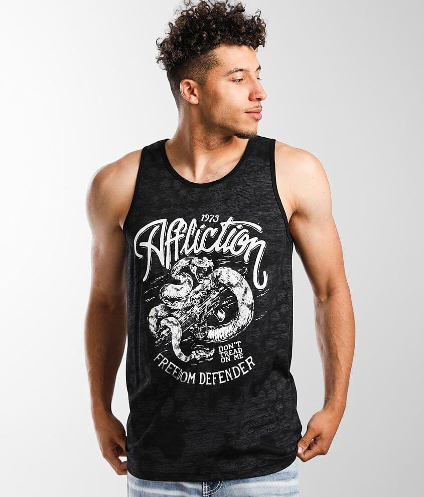 Affliction Freedom Defender Teeth Tank Top front view