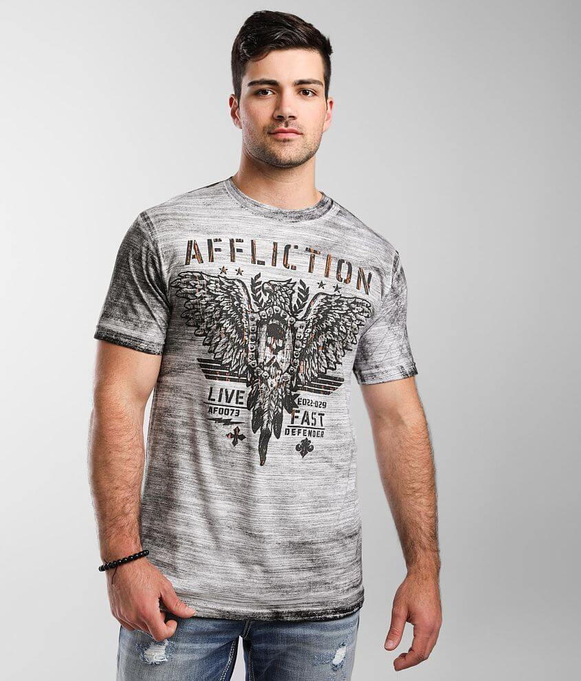 Affliction Freedom Defender Art Of War T-Shirt front view