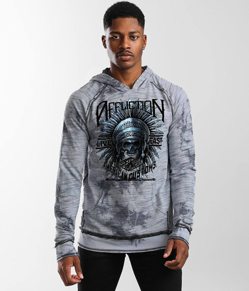 Affliction American Customs Speed Tribe Hoodie front view