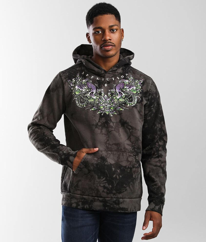 Affliction Southern Chromium Hooded Sweatshirt front view