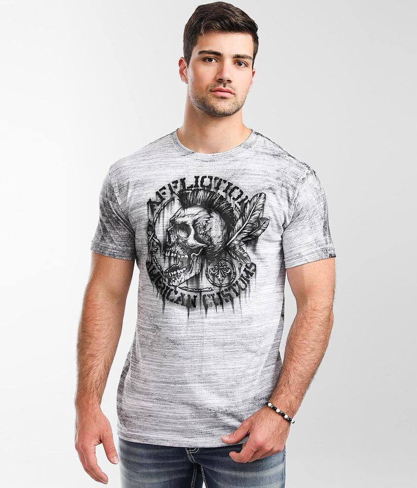 Affliction American Customs Native Petrol T-Shirt front view