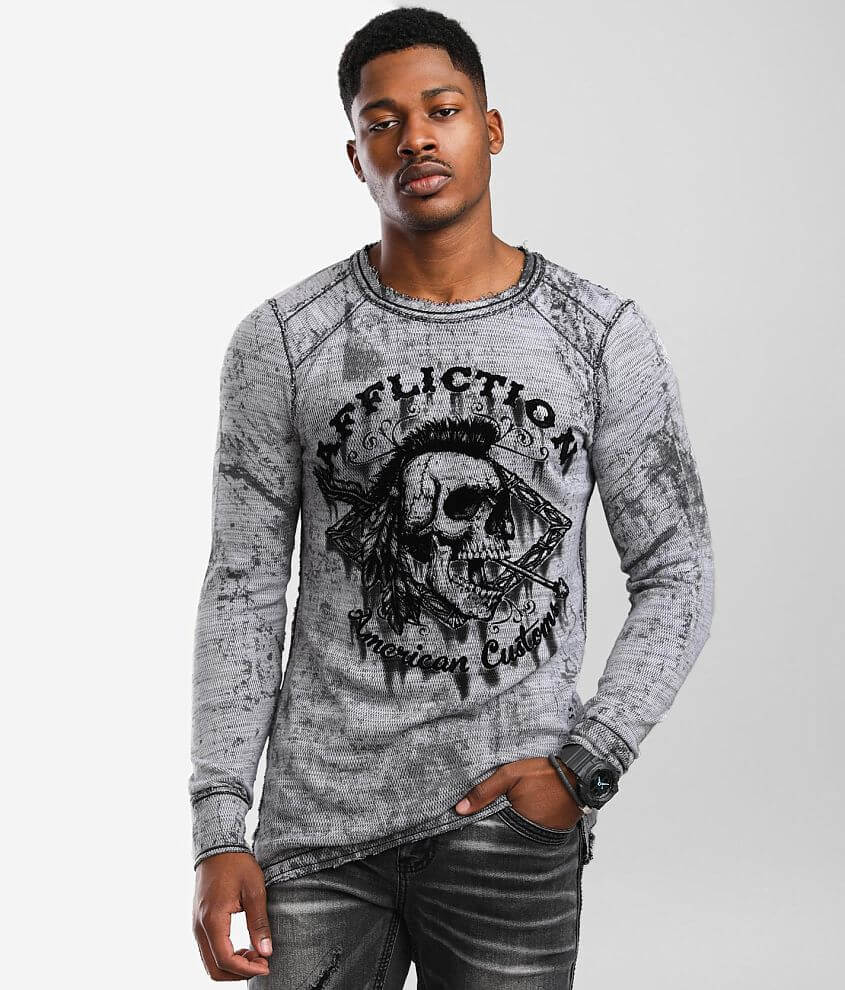 Affliction War Tribe Reversable Thermal front view