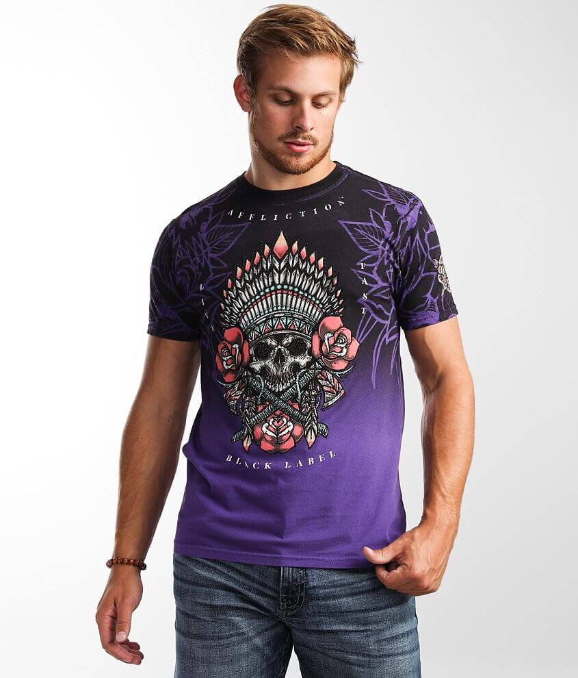 Affliction Thunder Sky T-Shirt front view