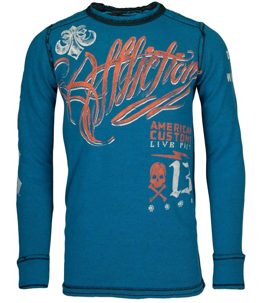 Affliction American Customs Scripted Thermal front view