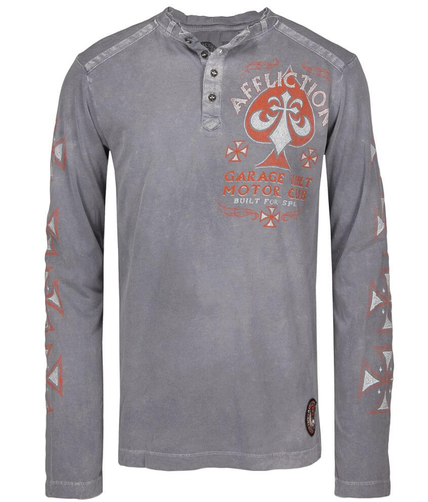 Affliction American Customs Evil T-Shirt front view