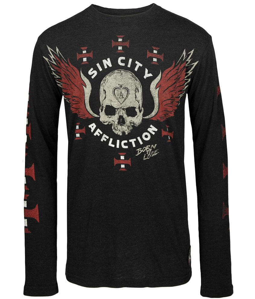 Affliction American Customs Sinners T-Shirt front view