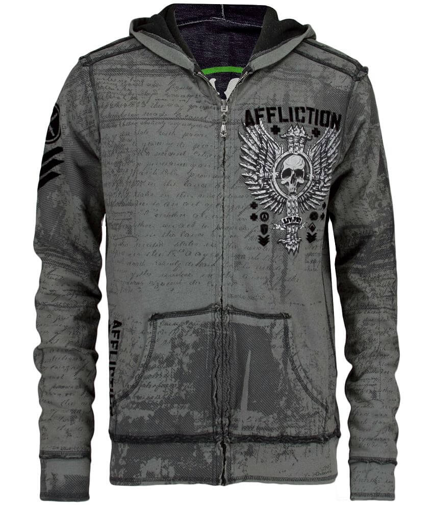 Affliction Vive Rapido Reversible Sweatshirt front view