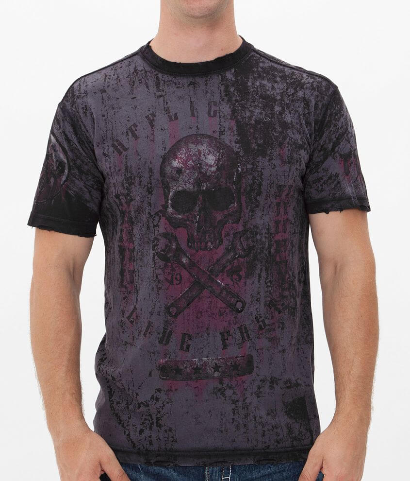 Affliction On The Tracks T-Shirt front view
