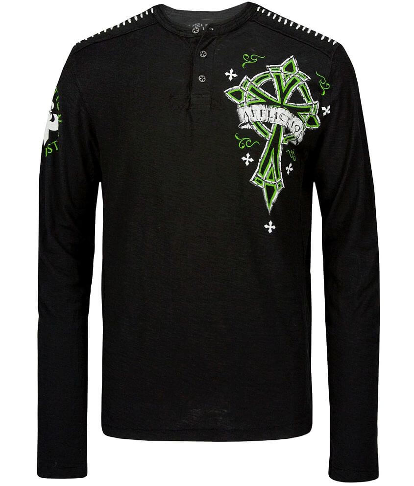 Affliction Chromatic Henley front view