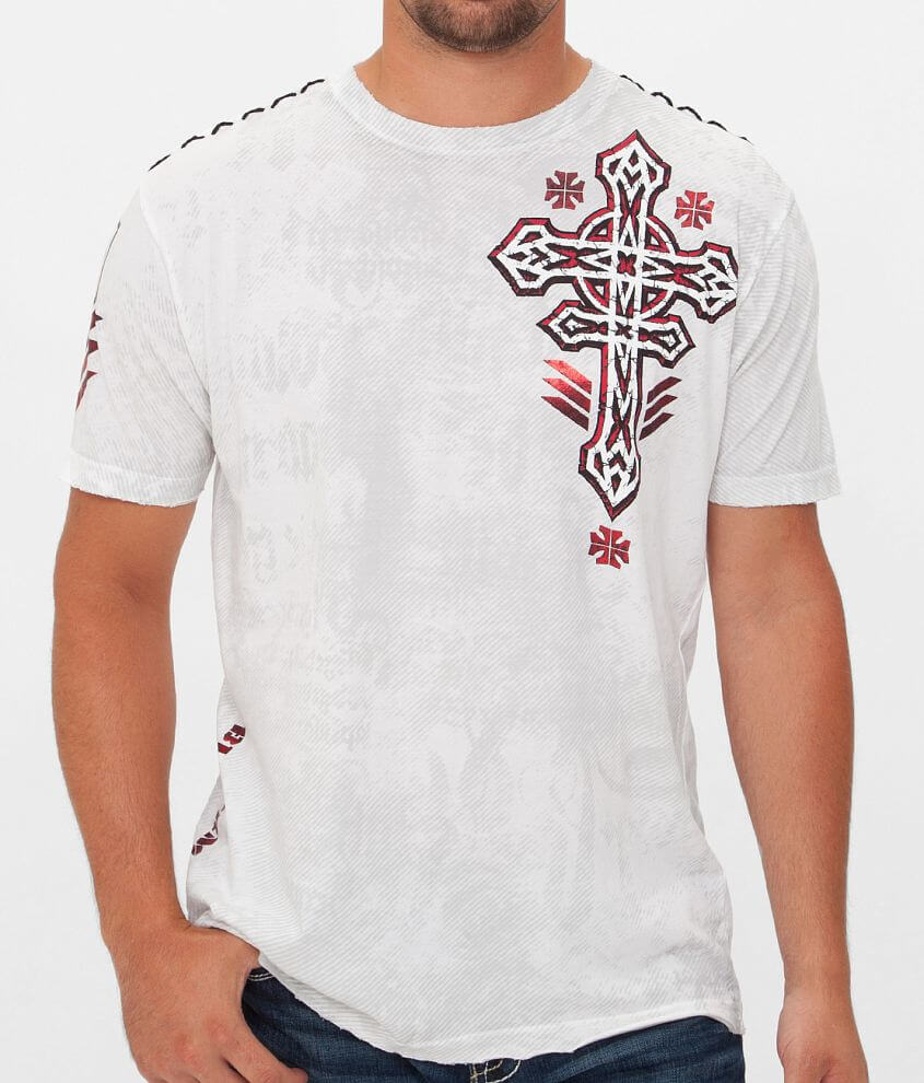 Affliction Tronic Black T-Shirt front view