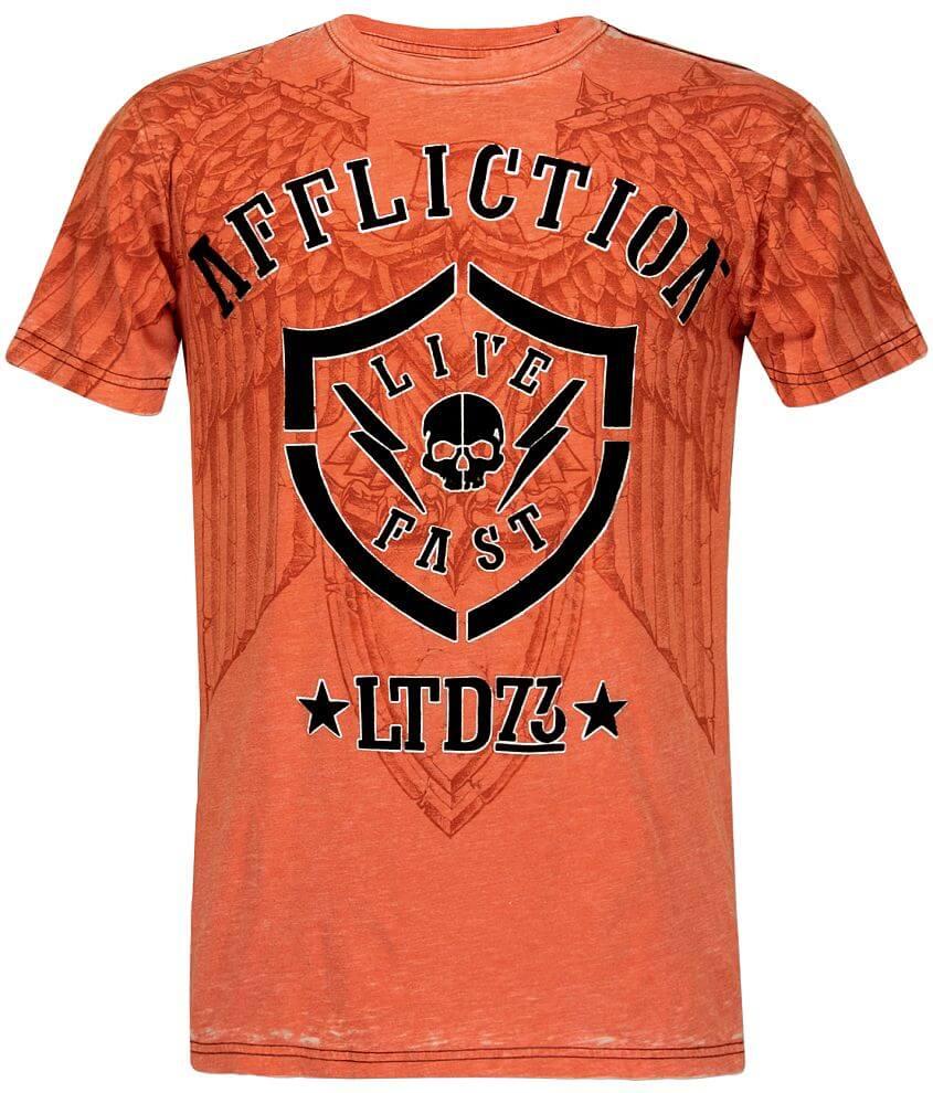 Affliction Axle Burnout T-Shirt front view