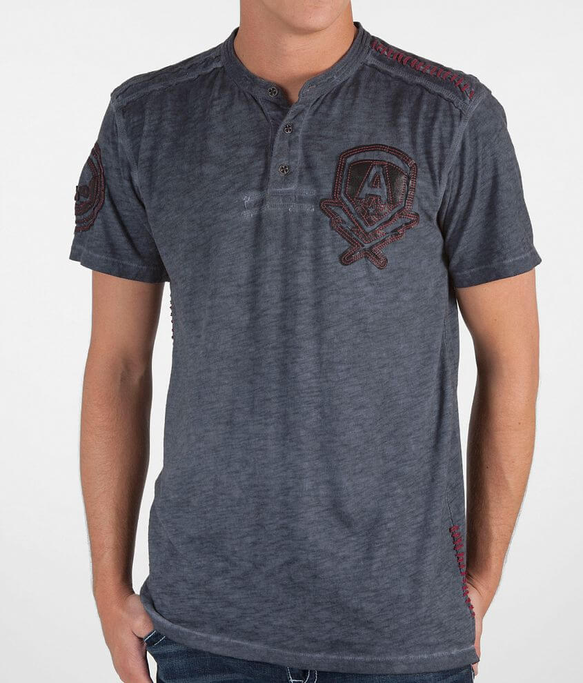 Affliction Bolt Henley front view