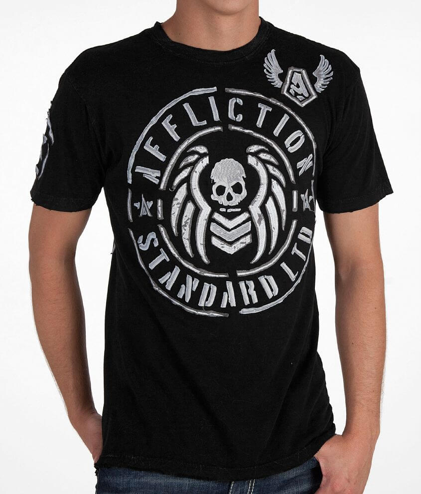 Affliction Barracks Attack T-Shirt front view