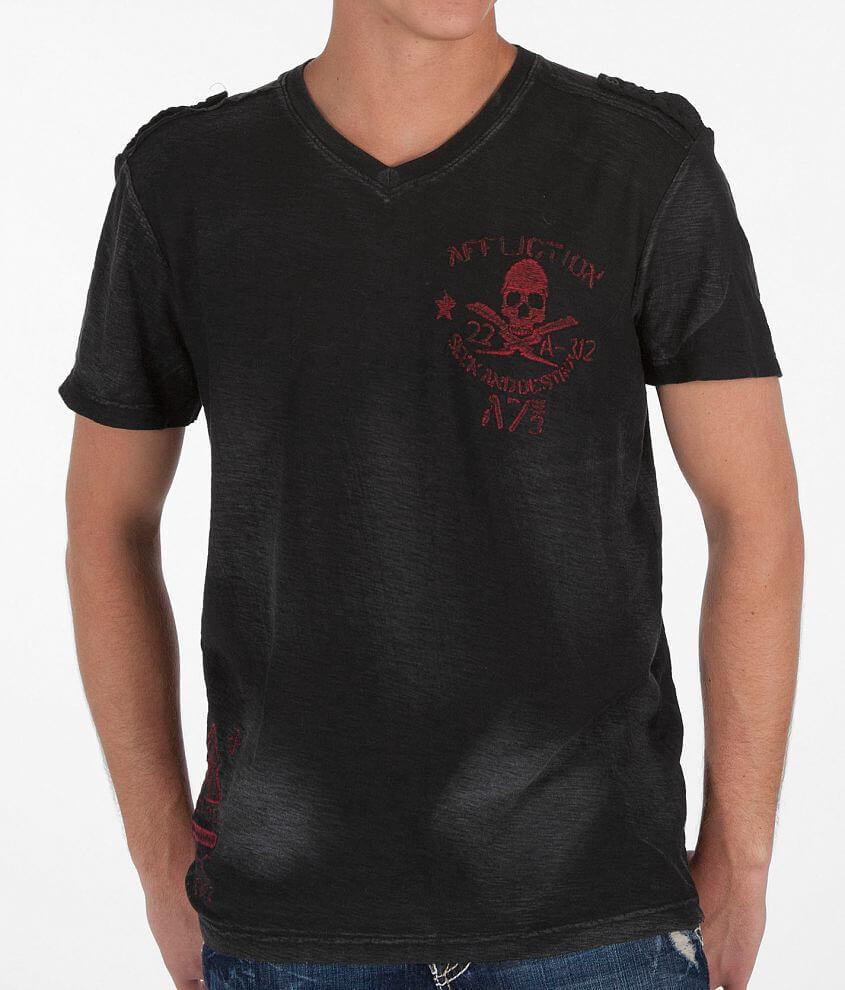 Affliction Ltd. Fire T-Shirt front view