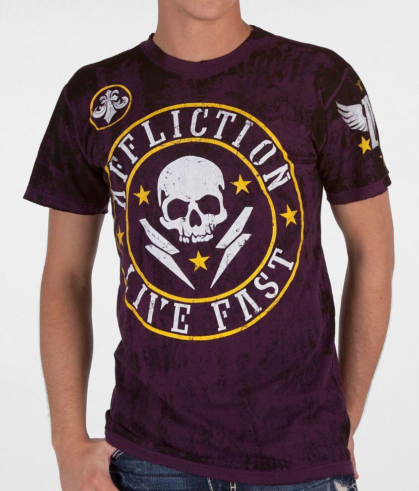 Affliction Divio Shockwave Reversible T-Shirt front view