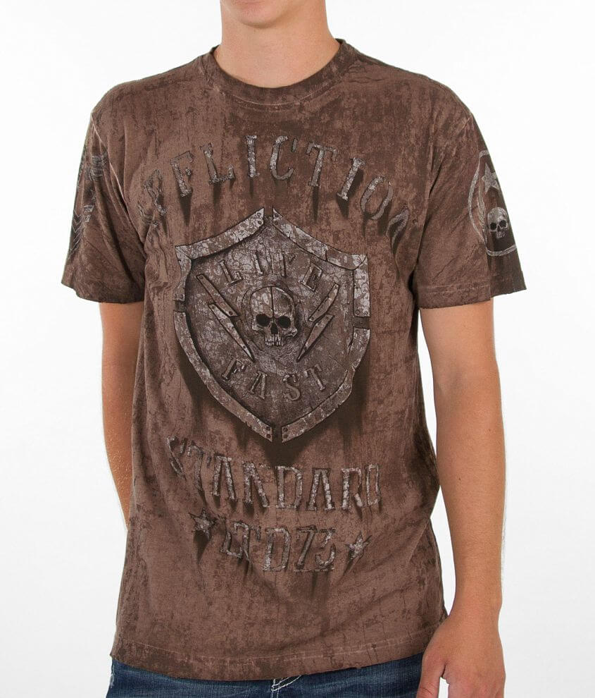 Affliction Derailed T-Shirt front view