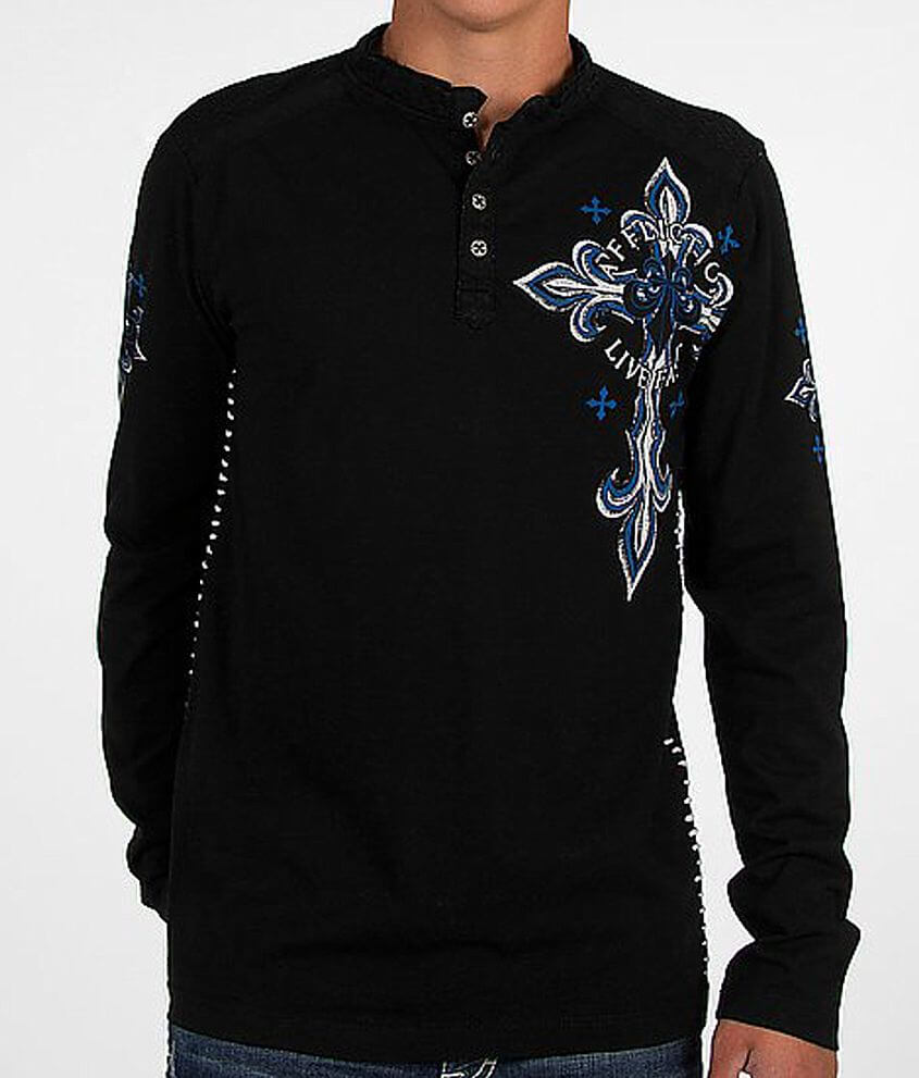 Affliction Daredevil Henley front view