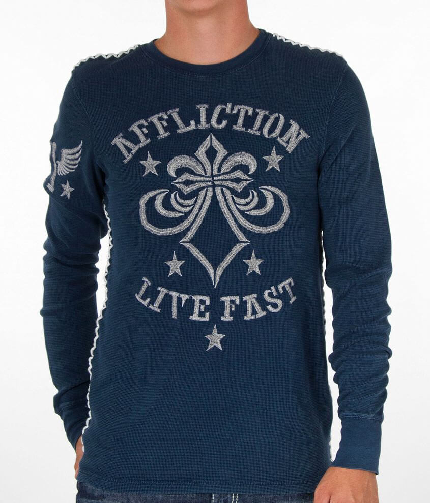 Affliction Grinder Thermal Shirt front view
