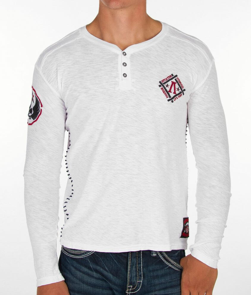 Affliction Cluster Henley front view