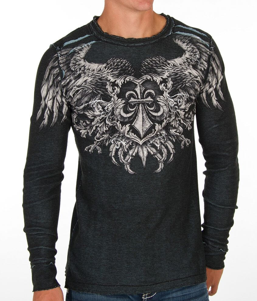 Affliction Monochromatic Reversible Thermal Shirt front view