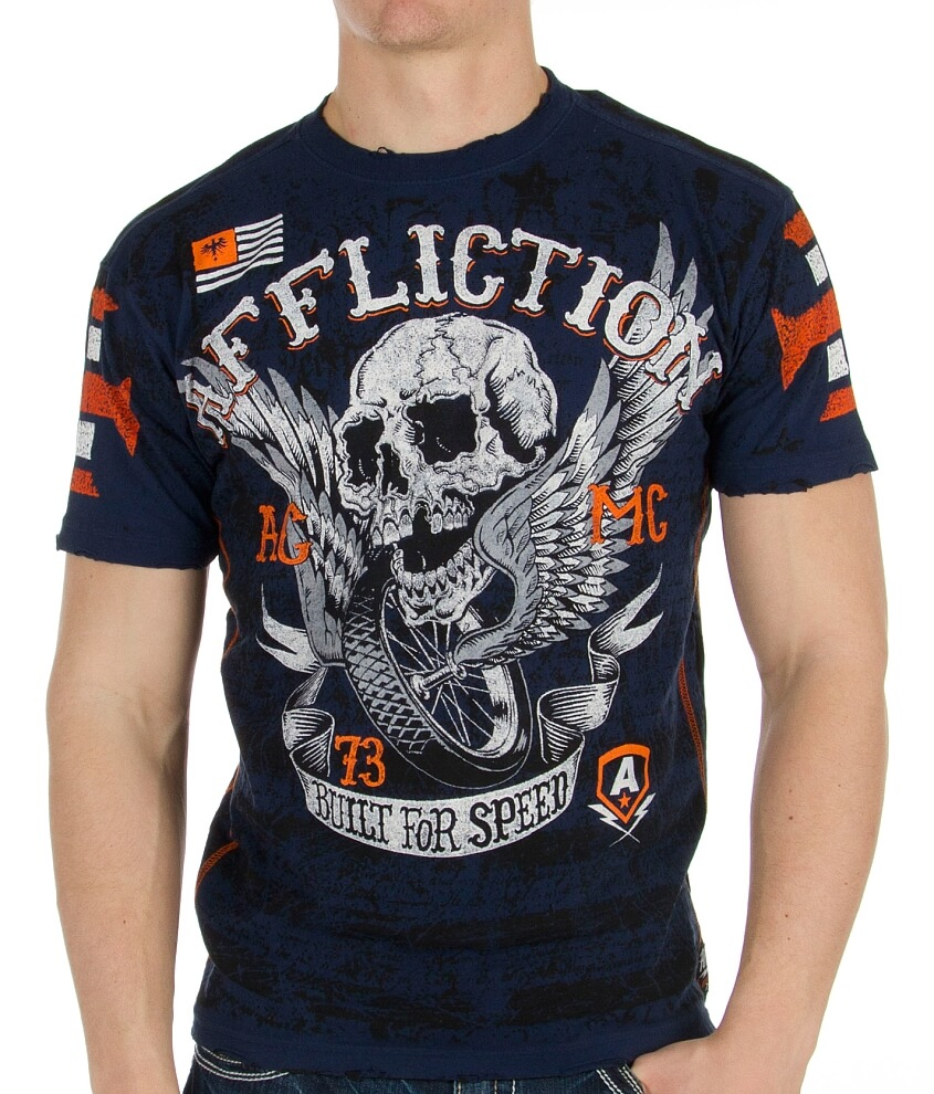 Affliction American Customs Wings Of Fury T-Shirt front view
