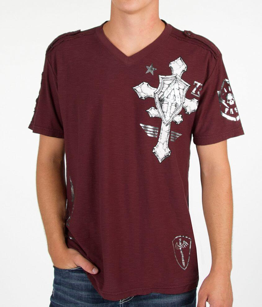Affliction Do It Again V-Neck T-Shirt front view