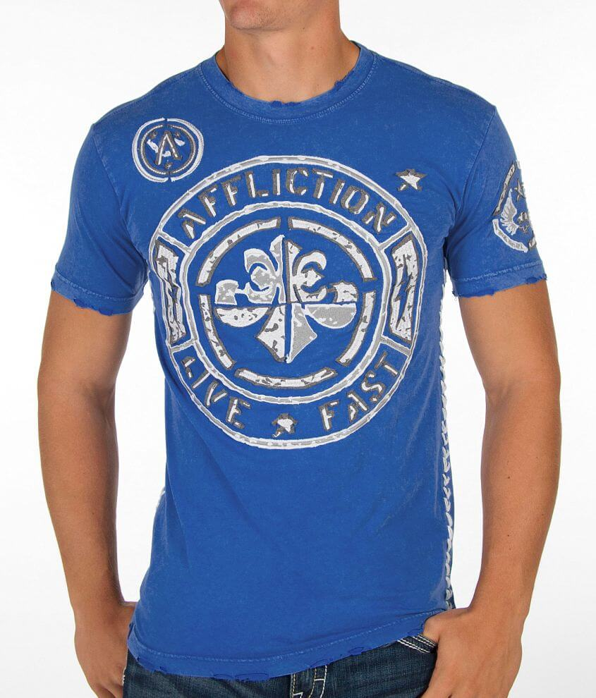 Affliction Stamp Jersey T-Shirt front view