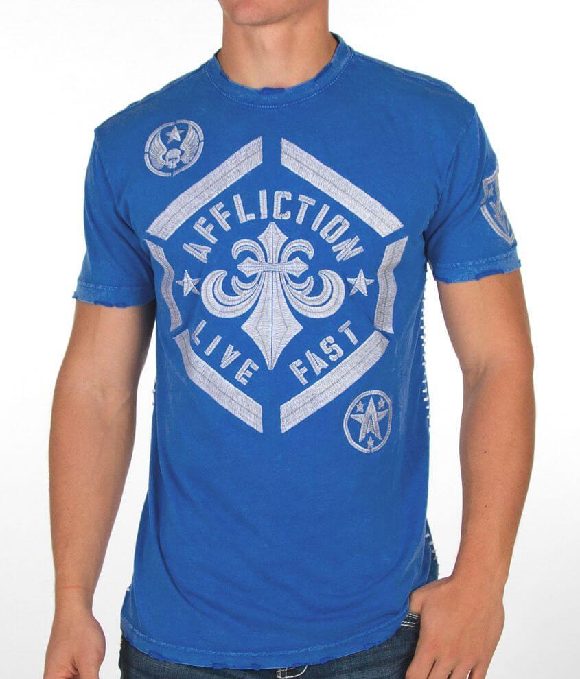 Affliction Sprayer Satin T-Shirt front view