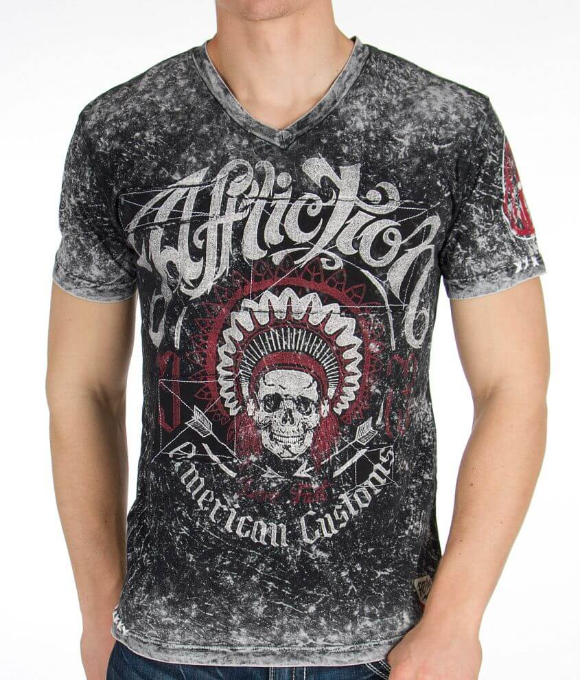 Affliction American Customs Thunderchief T-Shirt front view