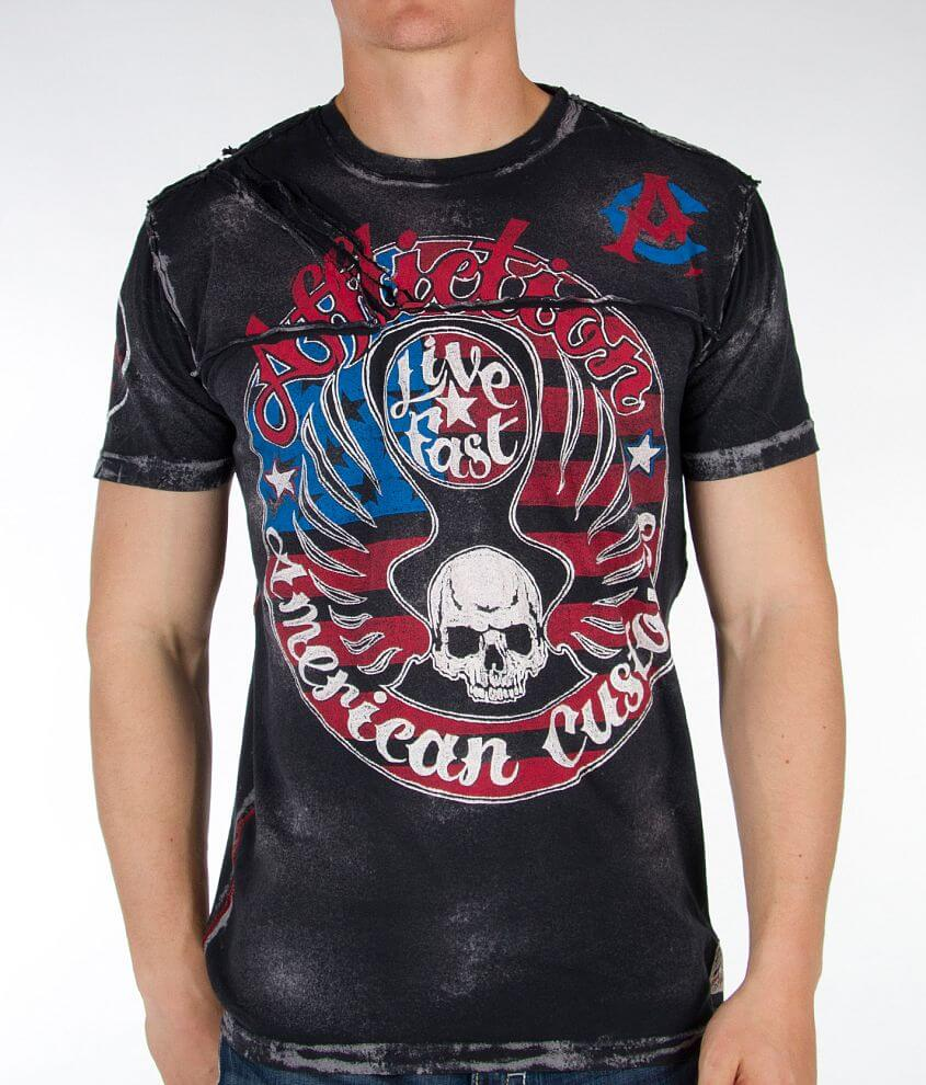 Affliction American Customs Ring Of Fire T-Shirt front view