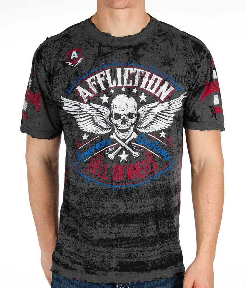 Affliction American Customs Heroic T-Shirt front view