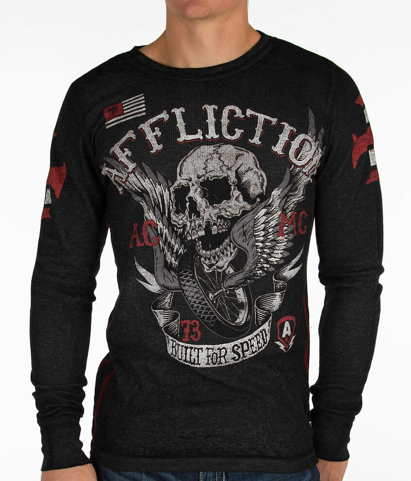 Affliction Wings Of Fury Thermal Shirt front view