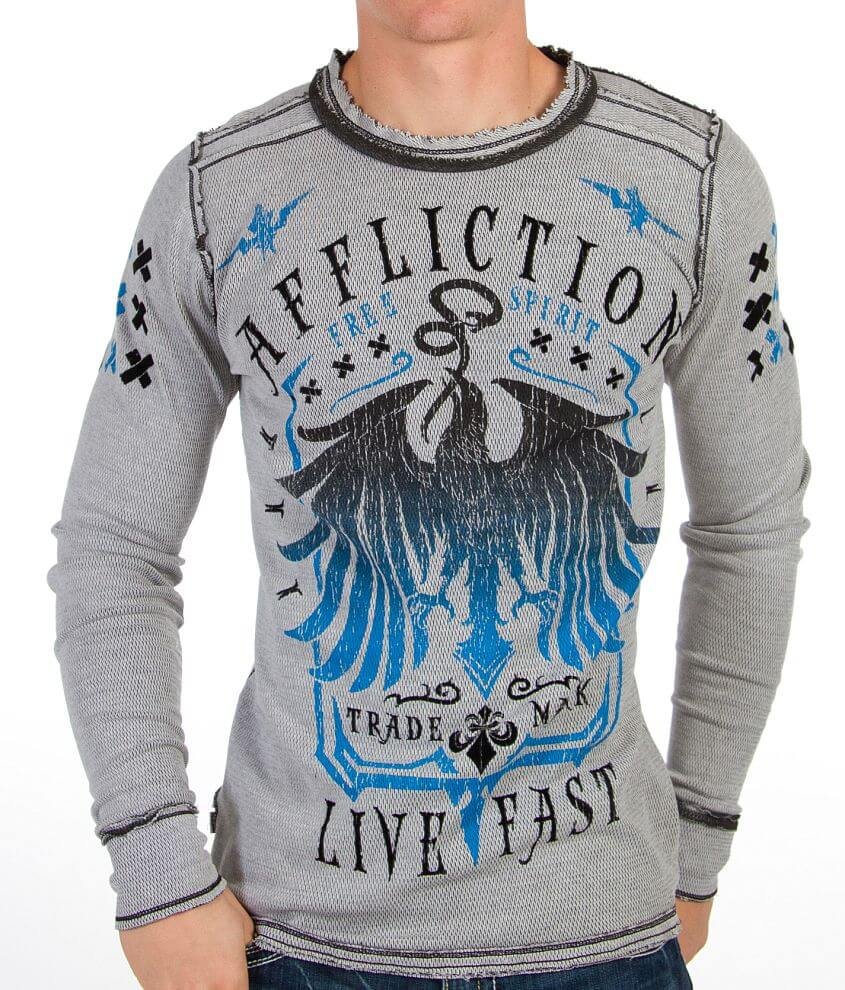 Affliction Miser Reversible Thermal Shirt front view